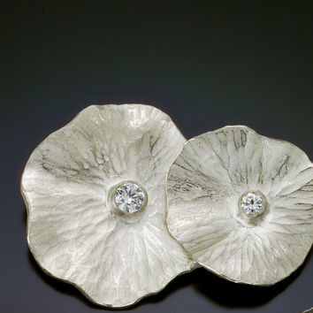 Hammered Circles Brooch