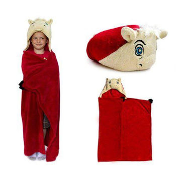 Oklahoma Sooners NCAA Huggable Hooded Mascot Blanket