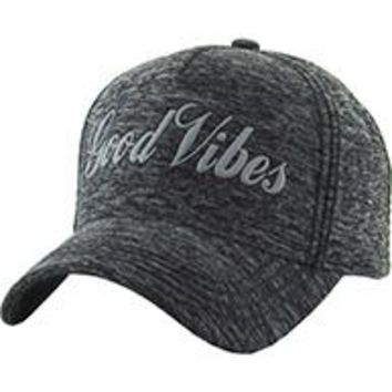 I'M  FEELING GOOD VIBES Unisex Hat Old School GRAY Blend Baseball Cap