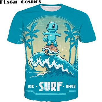 206dbc6c PLstar Cosmos Cute Cartoon t shirts Squirtle 3D t shirt Men Women Summer  Vacation tees Funny