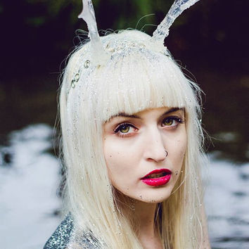 Icicle antlers winter headdress head piece