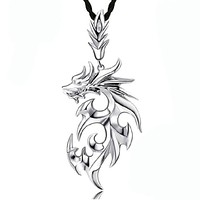 Silver Dragon Shape Necklace For Men