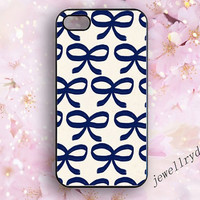 Bowknot iPhone 4 Case,iNavy blue bowknot Phone 4s Case,iPhone 5/5s Case,cute Bowknot samsung galaxy s3 s4 s5 case,bowknot Lovely girl gift