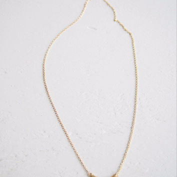 Gold Crescent Pendant Necklace