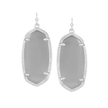 Kendra Scott Elle Slate Catseye Earrings Silver