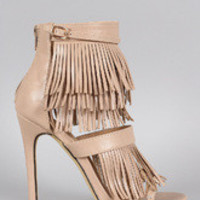 Women's Liliana Fringe Fall Open Toe Heel