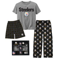 Pittsburgh Steelers 3-pc. Sleepwear Set - Boys 8-20