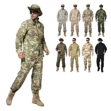 Army Uniform Camouflage Suit Hunting Combat Clothing Outdoor Tactical Shirt Pants Set Military