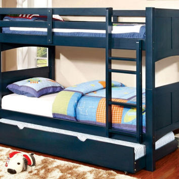 Carter Blue Twin over Twin Bunk Bed