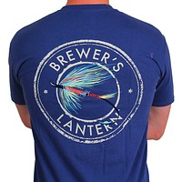 The Fishin' Fly Tee in Navy Blue by Brewer's Lantern-Small