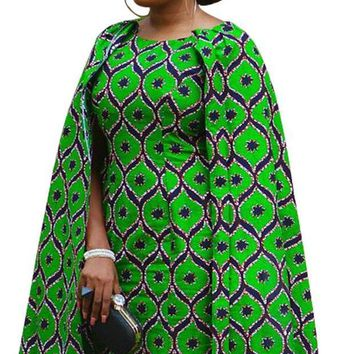 Ankara Batik Cloak/Cape Dress