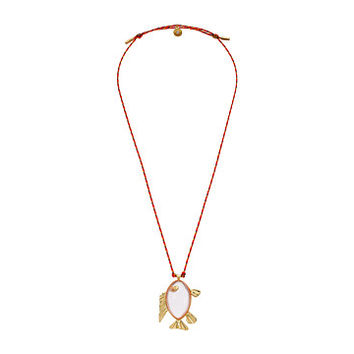 Tory Burch Fish Pendant Necklace