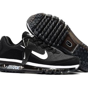 Air Max 2017 Men Shoes Black White