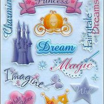 Disney Princess Dimensional Gem Stickers Decal 18-piece set Birthday Party Favor