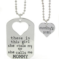 """""""She Call Me Mommy"""" Necklace Set"""