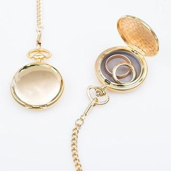 Pocket Watch Case Wedding Ring Holder