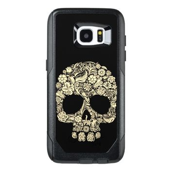 Floral Sugar Skull Samsung Galaxy S7 Edge Case