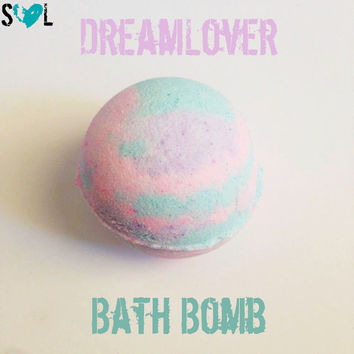 Dreamlover Bath Bomb, Valentine's Day Bath Bomb, Pastel Colors, Gift for Her