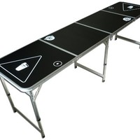 GoPong 8-Foot Portable Folding Beer Pong / Flip Cup Table (6 balls included)