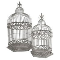 One Kings Lane - Bright Ideas - S/2 Decorative Bird Cages