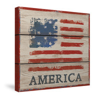 American Flag - America Canvas Wall Art