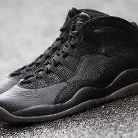 [FREE SHIPPING] AIR JORDAN 10 (BLACK / GOLD - OVO - DRAKE) BASKETBALL SHOES