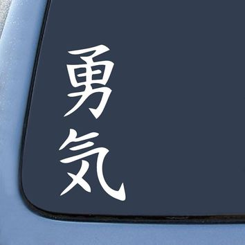 JSM Kanji Courage Japan Japanese Euro Drift  Logo Vinyl Sticker Decal Car Truck Windon Wall Laptop notebook