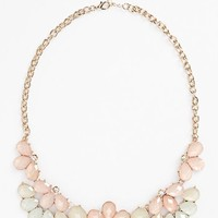 BP. Teardrop Floral Statement Necklace (Juniors)
