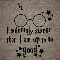 harry potter i solemnly swear that i am up to no good vinyl decal sticker, free shipping