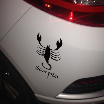 Funny cartoon Scorpio totem car styling,auto decor vinyl stickers and decals,car window side door tail DIY decor sticker