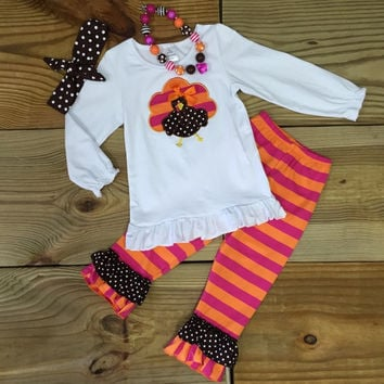Orange Pink Striped Turkey Outfit Outfit