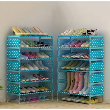 7-Tiers Shoe Racks with Thick Non-woven Fabric Shoe Storage Cabinet