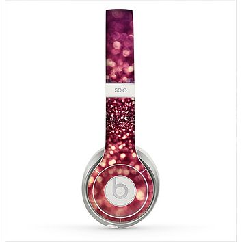 The Unfocused Purple & Pink Glimmer Skin for the Beats by Dre Solo 2 Headphones