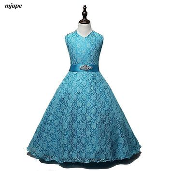 vintage flower girl dresses for wedding real photo lace communion dresses 9 colors girls pageant dresses