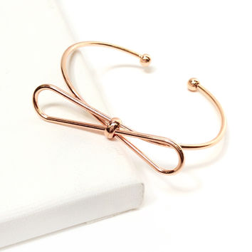 Rose Gold Bow Bracelet