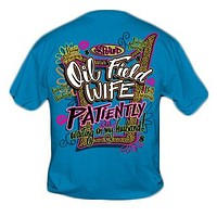 Sweet Thing Funny Spoiled Oil Field Wife Blue Girly Bright T Shirt