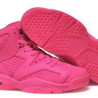 Hot Air Jordan 6 Retro Women Shoes All Pink