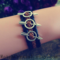 The Arrows triple arrow bracelet , personalized bracelet for boy ,Best friend bracelet for Men WB139