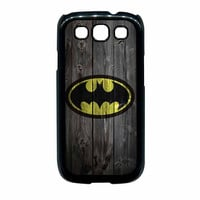 Batman Logo On Wood Samsung Galaxy S3 Case