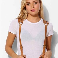 JAKIMAC Woven-Shoulder Leather Suspender- Brown One