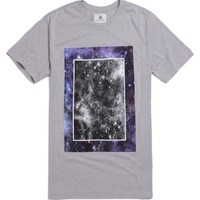 On The Byas Cosmos Graphic Crew T-Shirt - Mens Tee - Gray -