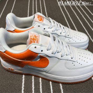 hcxx Nike Air Force 1 CR7 Low Cup Skate Shoes Orange