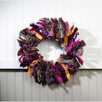 Primitive Rag Wreath