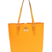 MICHAEL Michael Kors Vintage Yellow Jet Set Travel Leather Tote | zulily