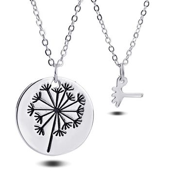the role ofing is tasted Mother's day gift ideas mother dandelion daughter set of chain necklace