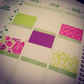 K39 Washi Stickers for Erin Condren Life Planner or Plum Paper Planner