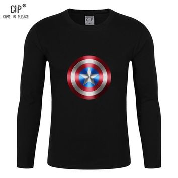 100%Cotton Marvels The Avengers Clothing Spring & Summer Boys boy's T-shirt With SHIELD Captain America Shield T Shirt Boys Kids
