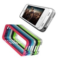 Vority X5S iPhone 5 & 5S Battery Case [White-Rubberized] Built-in 2400mAh Rechargeable External Back Up Charger - Low Profile & Slim Design/Landscape Kickstand, Includes 7 Colourful: Black, Blue, Pink & Purple in Solid Rubberized; Silver, Green & Clear in