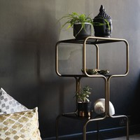 Curved Brass Shelving Unit - View All - NEW