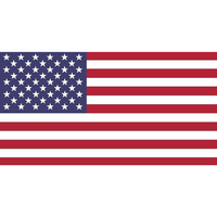 USA US American Flag bumper sticker decal white high grade vinyl